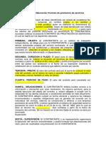 Modelo para elaboración Contrato de prestación de servicios (1).docx