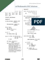 2010 General Mathematics HSC Solutions