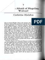 """Catherine Malabou """"Who is Afraid of Hegelian Wolves """""""
