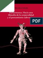 PERFORMANCE. HACIA UNA FILOSOFÍA DE LA CORPORALIDAD.