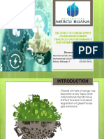 The Effect of Green Supply Chain Management Practices