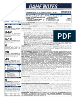 07.12.19 Game Notes