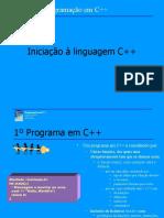 Iniciação na linguagem C++