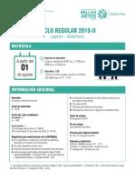 Matrícula Centro Pre Ciclo 2019-II