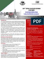 29th Tpm Facilitators Course