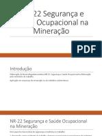 NR- 22 Segurança e Saúde Ocupacional Na Mineração