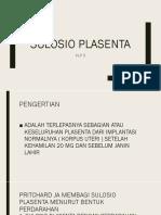 Power Point Sulosio Plasenta