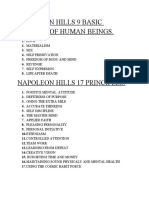 Napoleon Hills 9 Basic Motives of Human Beings