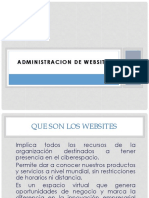 Administrsacion de WEBSITES