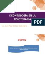 Deontología en La Fisioterapia