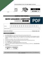 Maths kangaroo question paper for class 6
