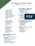 Prueba Acumulativa de Español Periodo 3