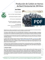 Tn 76 Produccion de Carbon en Hornos de Barril Horizontal de 200 Litros