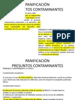 Panificación x Contaminación