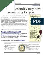 Newsletter -  April 29 2008