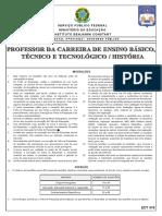Instituto Aocp 2013 Ibc Professor Historia Prova