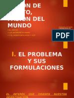 el problema y sis formulaciones