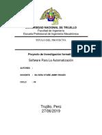 Informe Incubadora Software