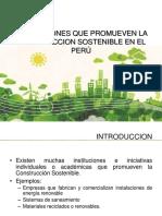 INSTITUCIONES QUE PROMUEVEN LA CONSTRUCCION SOSTENIBLE EN EL PERÚ