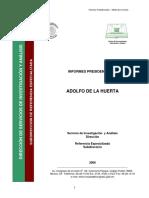 Informe Adolfo de La Huerta