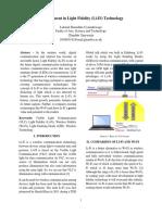 Advancement in Light Fidelity (Li-Fi) Technology