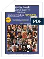 Ftii entrance objective and descriptive