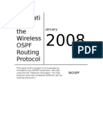 Evaluation of the Wireless OSPF Routing Protocol