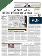 En agosto del 2012 podría concluir proceso en La Haya