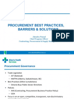 Procurement Best Practices Barriers Solutions