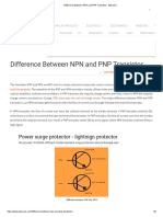 Difference Between NPN and PNP Transistor - Elprocus