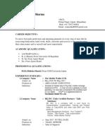 Resume Prakash SEPT2018