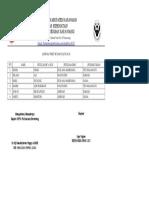 daftar jadwal piket