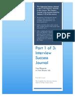 Part 1 Interview Success Journal