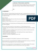 The Nursing Assessment Cheat Sheet (ADPIE)