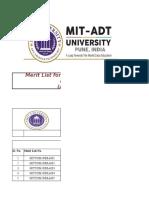 Final Merit List 2019