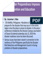 PH's Disaster Preparedness Imposes Prevention and Education
