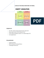 39825845 Swot Analysis of Textile Industry of India (1)