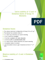 11.3 Relative Stability of Element Group 14