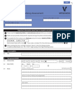 Competency Assessment Application Form