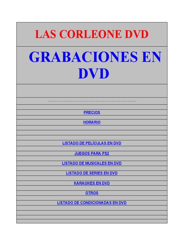 b10a296dd Las Corleone Dvd@Hotmail