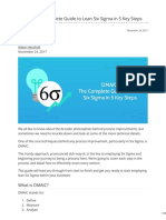 Process.st-dMAIC the Complete Guide to Lean Six Sigma in 5 Key Steps