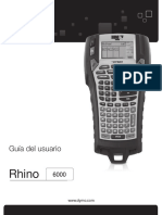 Rhino Industrial 6000 Guia Usuario