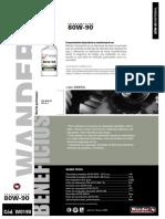 Hoja Tecnica - Wander - Transmision 80w90