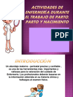 actividades de enfermería durante el trabajo de parto