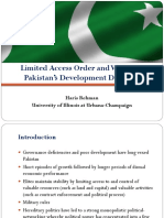 Limited Access Order and Violence in Pakistan