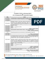 Calendar of Events B.E Odd Semester 2018-19-30.07.2018