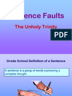 Sentence Faults