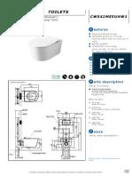 CW542ME5UNW1 Spec Sheet