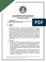 Programa de Finanzas Internacionales 2019