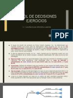 ÁRBOL de DECISIONES Ejercicios Segunda Parte